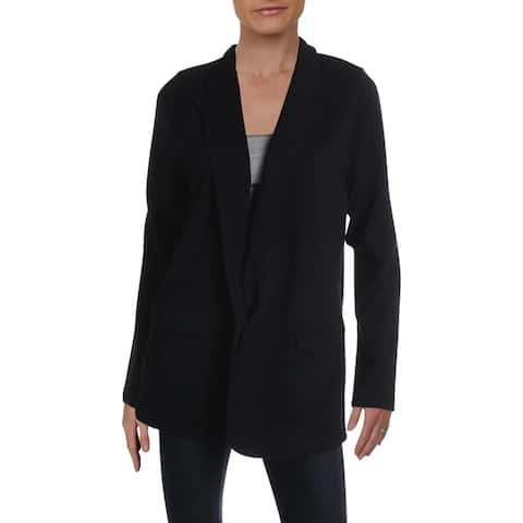 Aqua Womens Elle Blazer Knit Business