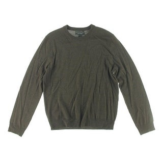 Private Label Mens Merino Wool Crew Neck Pullover Sweater