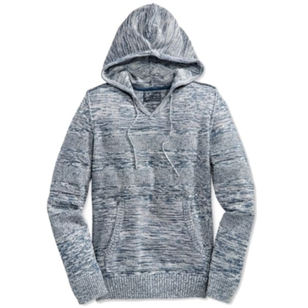 f5f3748954 Shop American Rag NEW Navy Blue Mens Size 2XL Marled-Knit Hooded Sweater -  Free Shipping On Orders Over  45 - Overstock.com - 17800262