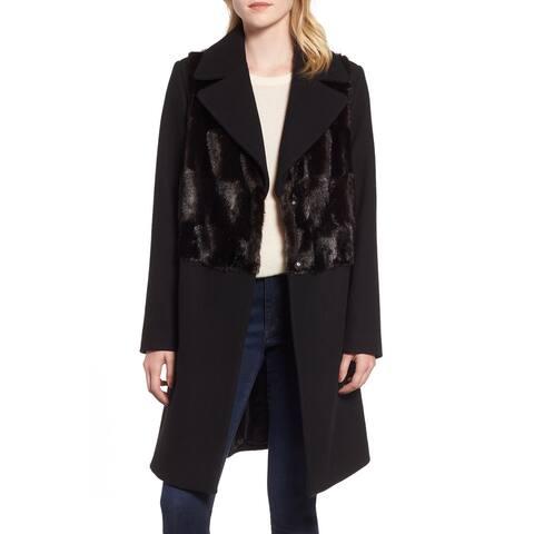 Rachel Rachel Roy Women's Coat Midnight Black Size XL Faux-Fur Panel