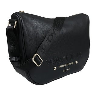 Versace EE1VSBBS4 E899 Black Messenger Bag - 14-10.25-4.75