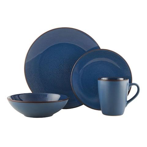 Pfaltzgraff Pierce Blue 16Pc Dinnerware Set
