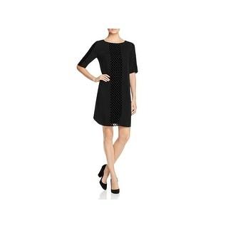 Foxcroft Womens Wear to Work Dress Velvet Polka Dot