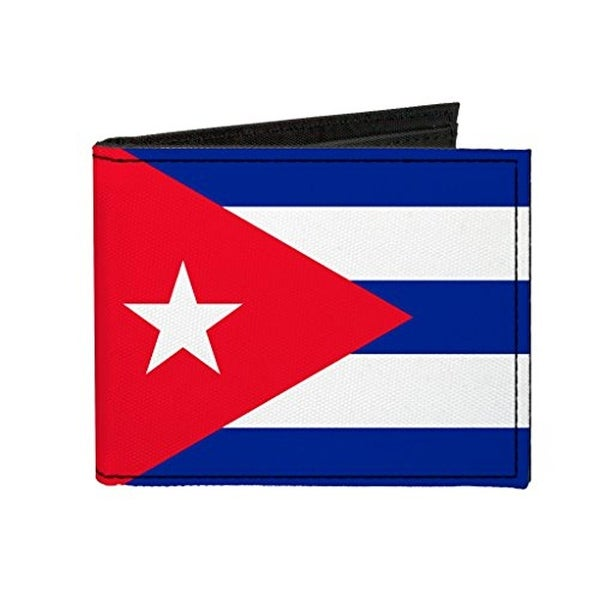 Buckle-Down Canvas Bi-fold Wallet - Cuba Flag Accessory