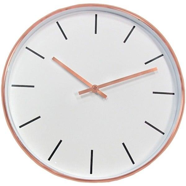"Timekeeper 667001 15"" Round Copper Metal Wall Clock"