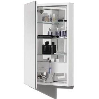 "Robern PLM2040W PL Series Single Door 19-1/4"" x 39-5/8"" Medicine Cabinet with Reversible Mirrored Door with White Interior"
