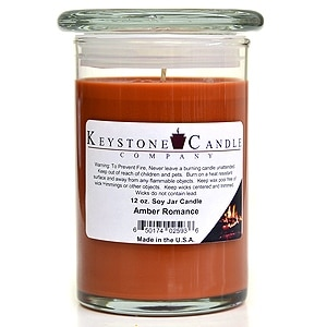 3 Pcs of 12 oz Amber Romance Soy Jar Candles 3.5 in. diameter x 5 in. tall