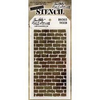 """Bricked - Tim Holtz Layered Stencil 4.125""""X8.5"""""""