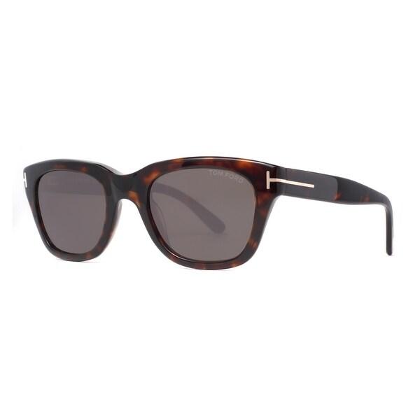 adb16b36ae Tom Ford Snowdon TF 237 52N 50mm Havana Brown Green Square Sunglasses -  brown havana
