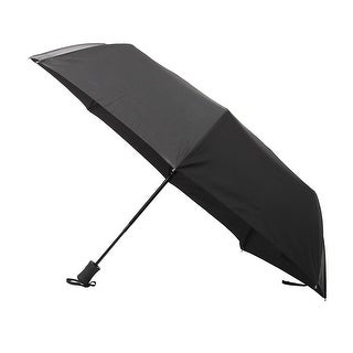 VECELO Automatic Travel Umbrella ,Outdoor Sports Lightweight Windproof  Black Umbrella