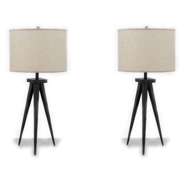 Modern Contemporary 29 Tripod Table Lamp Desk Lamp Bedside Lamp Set Of 2 Candelabra