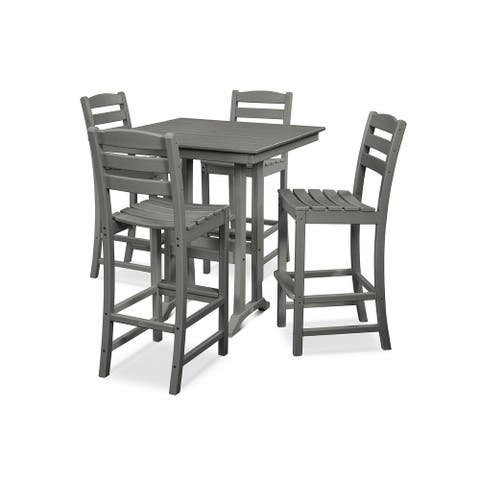 POLYWOOD La Casa Caf 5-piece Farmhouse Bar Set