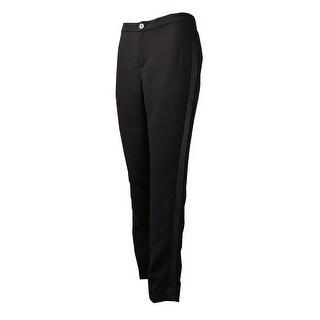 Lauren Ralph Lauren Women's Satin-Side Crepe Pants (12, Black) - Black - 12