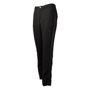 Lauren Ralph Lauren Women's Satin-Side Crepe Trousers (4, Black) - 4