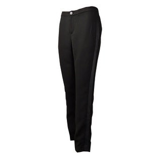 Lauren Ralph Lauren Women's Satin-Side Crepe Trousers (4, Black) - Black