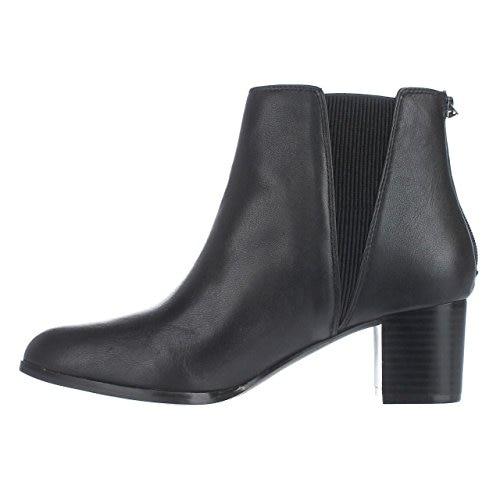 Alfani Vitaa Rear Zip Ankle Boots - Black Leather