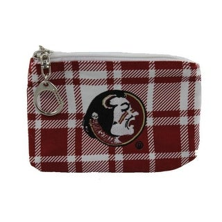 Get Ready Girls Womens Florida State Seminoles Plaid Coin Pouch/Purse