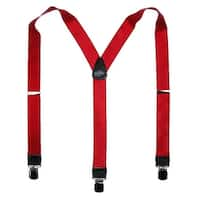 CTM® Men's French Satin Clip-End 1 1/2 Inch Suspenders - One size