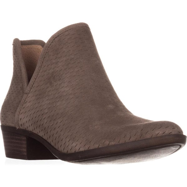 Lucky Brand Baley Pull On Ankle Boots, Brindle Oiled Suede