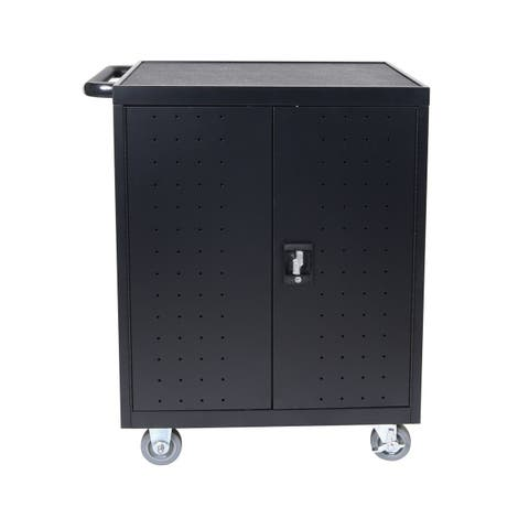 OF-LLTP32-B - Offex 32 Laptop/Chromebook Compact Charging Cart - Black