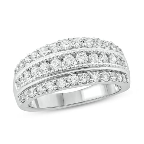 Cali Trove 1ct TDW Diamond Fashion Ring in 10kt White/Yellow/Pink Gold