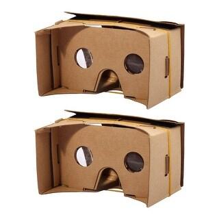 Smartphone Cardboard Kit DIY 3D VR Virtual Reality Viewing Glasses 6 Inch 2pcs