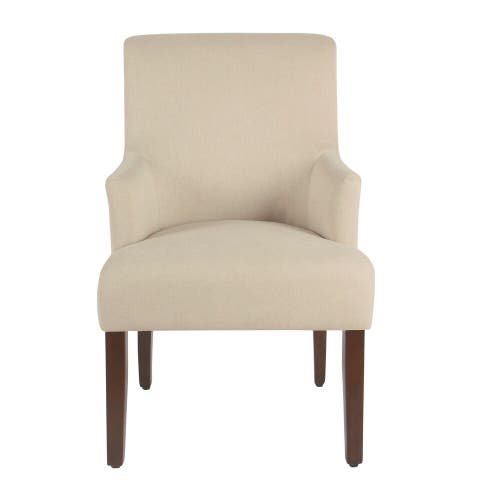 HomePop Meredith Anywhere Chair - Stain Resistant Cream Fabric