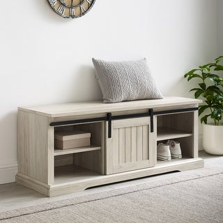 Link to The Gray Barn Sliding Groove Door Entry Bench Similar Items in Living Room Furniture