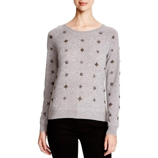 Sutton Studio Womens Pullover Sweater Cashmere Embellished