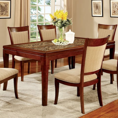 Furniture of America Garl Transitional Oak 66-inch Dining Table
