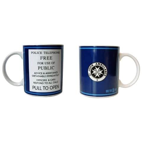 Doctor Who Tardis Police Telephone Ceramic Coffee Mug - Multi