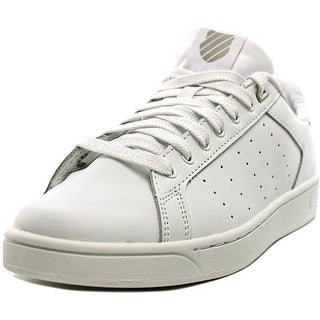 K-Swiss Clean Court CMF Women  Round Toe Leather White Tennis Shoe