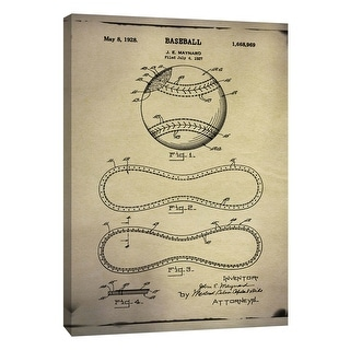 """PTM Images 9-108981  PTM Canvas Collection 10"""" x 8"""" - """"Baseball Patent Buff"""" Giclee Baseball Art Print on Canvas"""