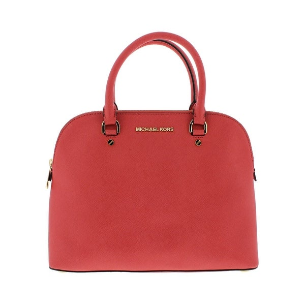 1cf880bff134 ... MICHAEL Michael Kors Womens Cindy Satchel Handbag Leather Dome - MEDIUM  ...