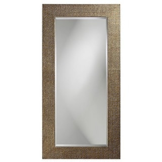 "Howard Elliott 2142 Lancelot 60"" x 30"" Tall Silver Leaf Mirror"