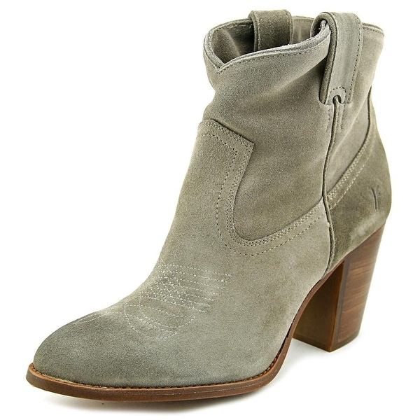 Frye Ilana Short Boot Women Pointed Toe Suede Gray Bootie