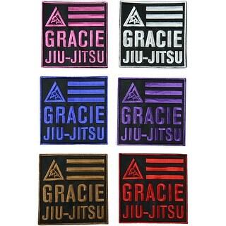 "Gracie Jiu-Jitsu Adult 4"" x 4"" Embroidered Backpack Rank Patch"