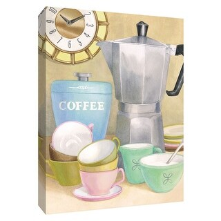 """PTM Images 9-154410  PTM Canvas Collection 10"""" x 8"""" - """"Retro Coffee II"""" Giclee Coffee, Tea & Espresso Textual Art Print on"""