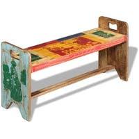 "vidaXL Cola Bench Solid Reclaimed Wood 39.4""x11.8""x19.7"""