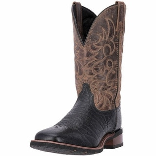 "Laredo Western Boots Mens 11"" Topeka Orthotic Stockman Black 7824"