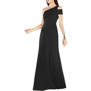 BCBG Max Azria Womens Annely Formal Dress One-Shoulder Cut-Out