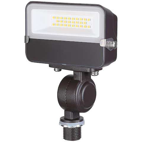 15W Knuckle Mount LED Flood Light 3000K Warm White Bronze - 1PACK