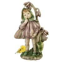 Design Toscano  Ella, the Littlest Flower Fairy Statue