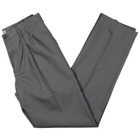 Dockers Mens Dress Pants Khaki Pleated - Grey - 34/38