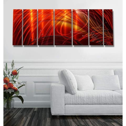 Statements2000 3D Metal Wall Art Abstract Painting Panels Decor by Jon Allen - Tail Spin II