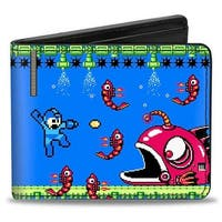 Megaman Game Play Scene Anko Shrink M 445 Bi Fold Wallet - One Size Fits most