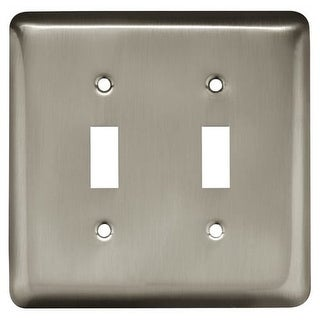 Franklin Brass W10246-C Stamped Steel Round Double Toggle Switch Wall Plate