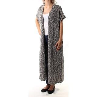 CHELSEA SKY $128 Womens New 1176 Black White Short Sleeve Sweater S B+B