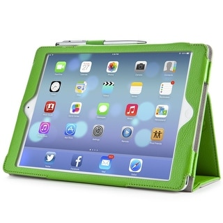 i-Blason, iPad Air, 360 degree, Rotating Stand, Apple iPad Air Leather Case-Cover With Bonus Stylus-Green