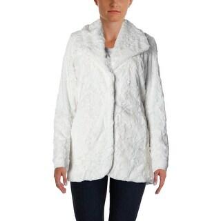 Karen Kane Womens Jacket Faux Fur Long Sleeves